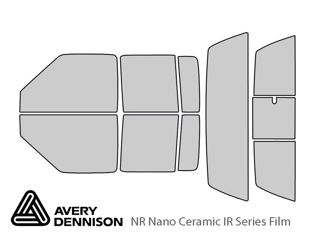 Avery Dennison Chevrolet S-10 2001-2005 (4 Door) NR Nano Ceramic IR Window Tint Kit