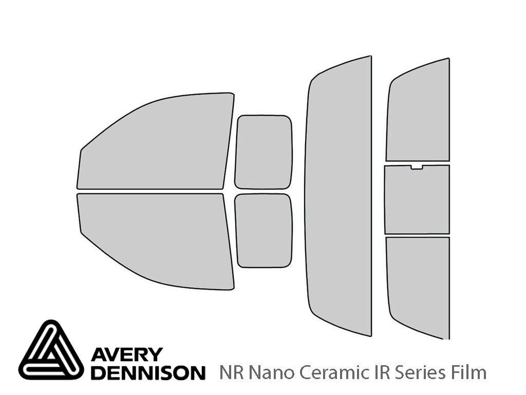 Avery Dennison Dodge Dakota 2005-2010 (2 Door) NR Nano Ceramic IR Window Tint Kit