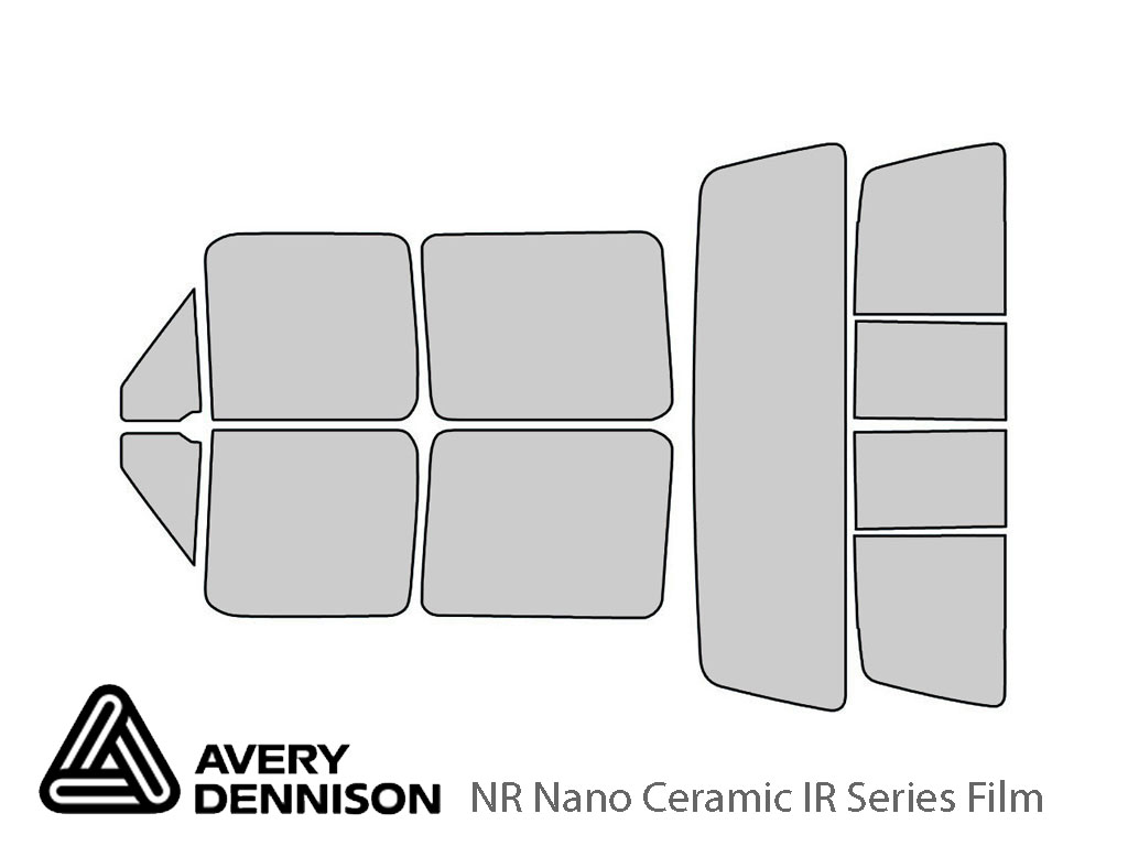 Avery Dennison Ford F-150 1992-1996 (4 Door) NR Nano Ceramic IR Window Tint Kit