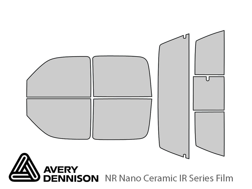 Avery Dennison GMC Sierra 2001-2006 (4 Door) NR Nano Ceramic IR Window Tint Kit
