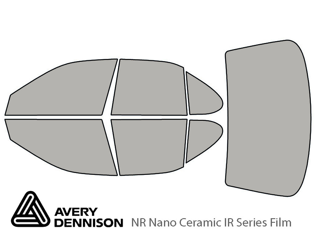 Avery Dennison Nissan Altima 1993-1997 NR Nano Ceramic IR Window Tint Kit