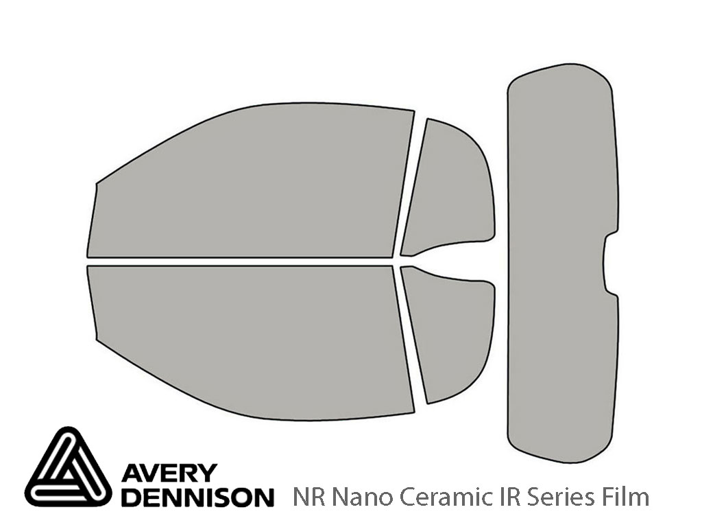 Avery Dennison SMART Fortwo 2008-2015 (Coupe) NR Nano Ceramic IR Window Tint Kit