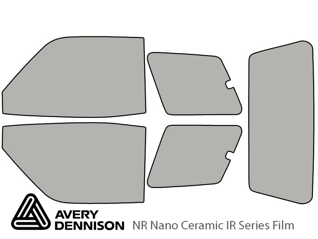 Avery Dennison Toyota Rav4 1996-1999 (2 Door) NR Nano Ceramic IR Window Tint Kit