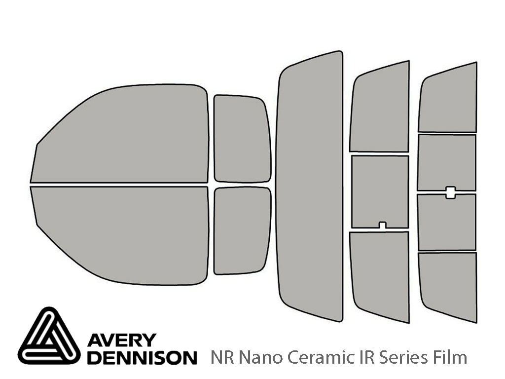 Avery Dennison Toyota Tacoma 1995-2004 (2 Door Extended Cab) NR Nano Ceramic IR Window Tint Kit