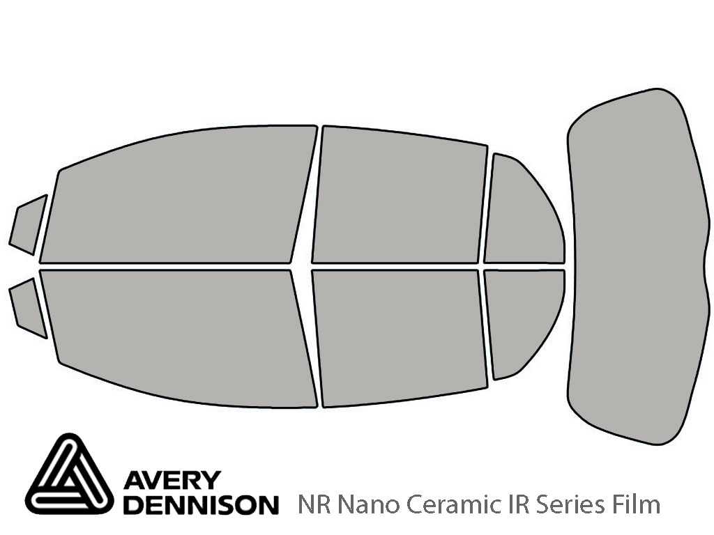 Avery Dennison Toyota Yaris 2007-2011 (5 Door Hatchback) NR Nano Ceramic IR Window Tint Kit