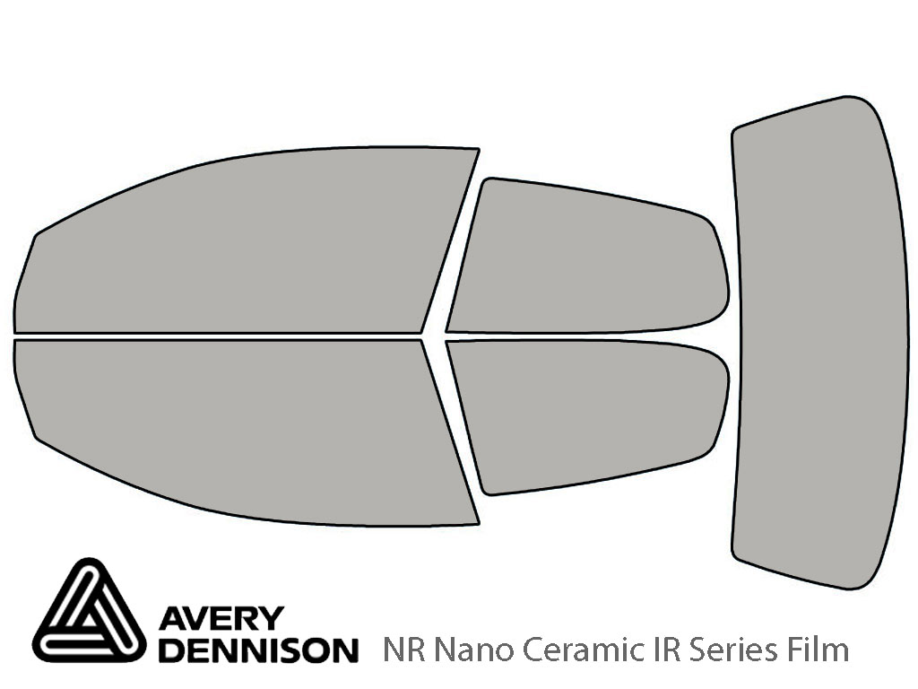 Avery Dennison Volkswagen Rabbit 2006-2009 (2 Door) NR Nano Ceramic IR Window Tint Kit