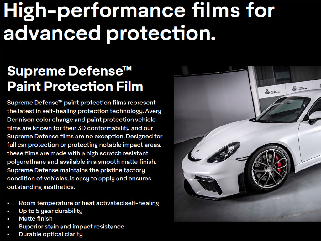 Avery Dennison SPF-XI-Supreme Defense Protection Film