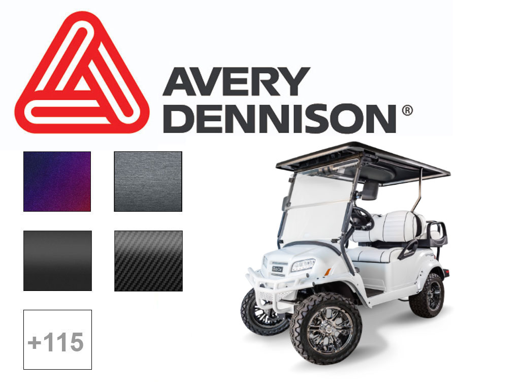 Avery SW900 Golf Cart Vinyl Wrap Film
