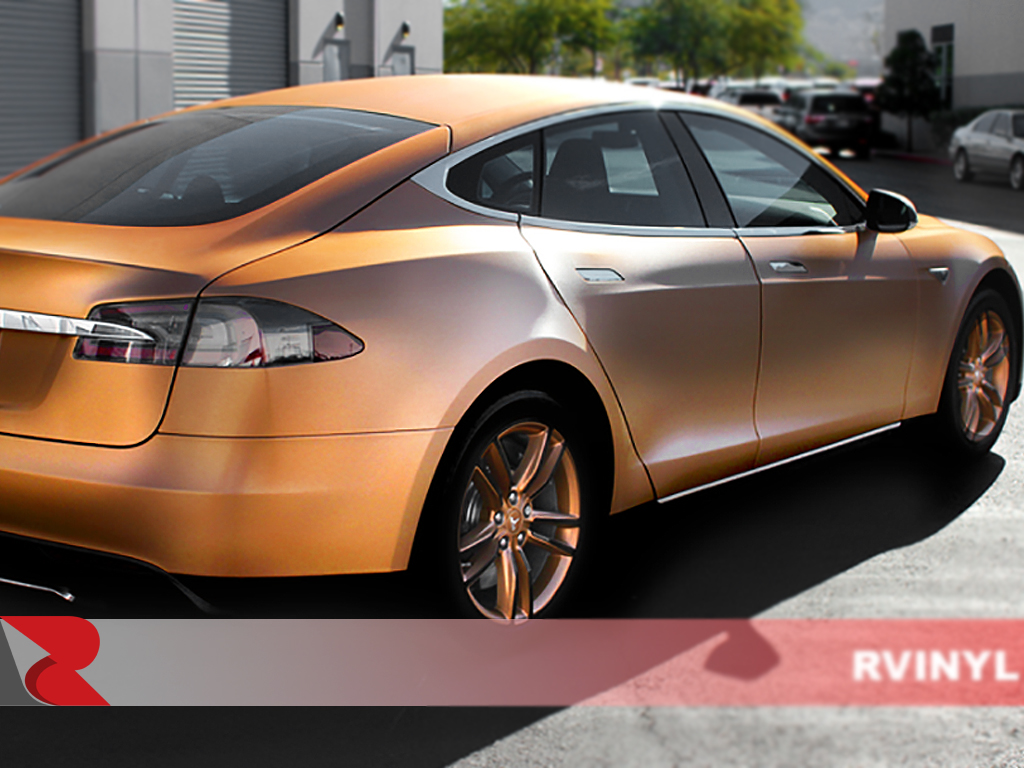 Avery SW900 Brushed Bronze Rear View Vinyl Wrap
