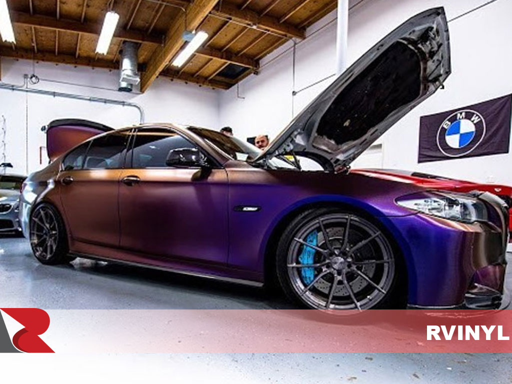 Avery Supreme Wrapping ColorFlow Satin Roaring Thunder BMW Wrap