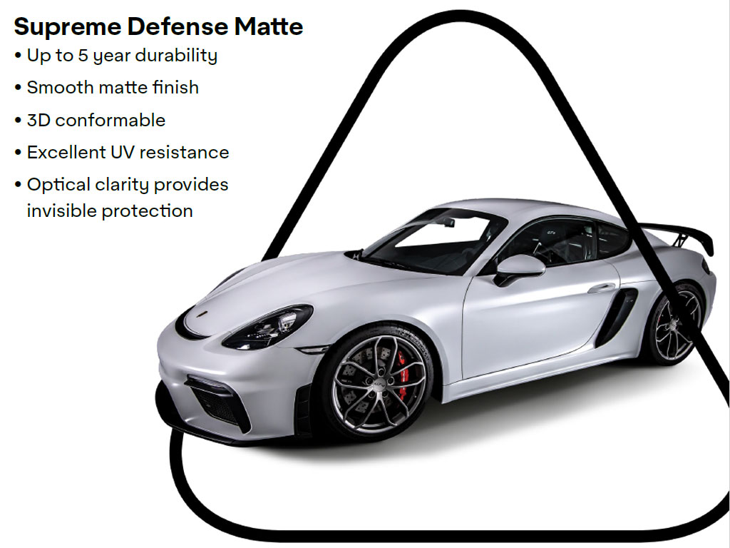 Avery Dennison Supreme Defense Matte PPF Vehicle Wrapping Film