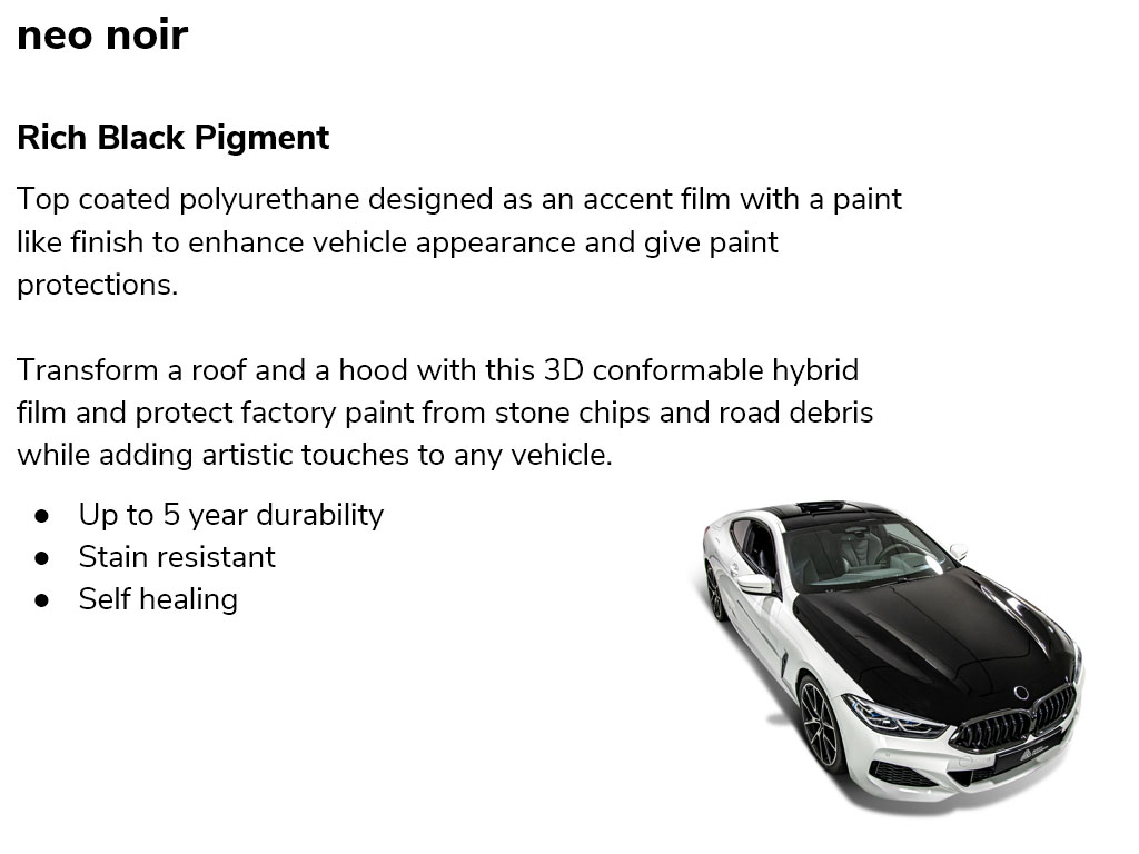 Avery Dennison Neo Noir Self Healing Black Paint Protection Film