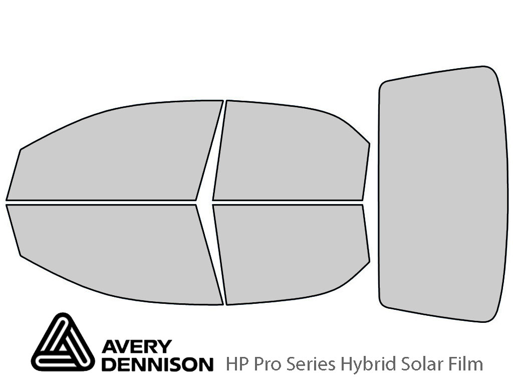 Chevrolet Aveo 2004-2008 Sedan Avery Hybrid Window Tint