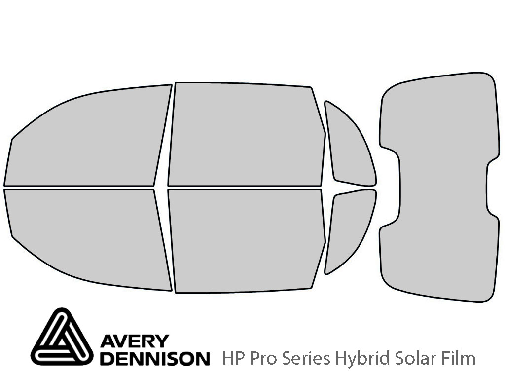 Avery Dennison Chrysler PT Cruiser 2001-2010 (Sedan) HP Pro Window Tint Kit