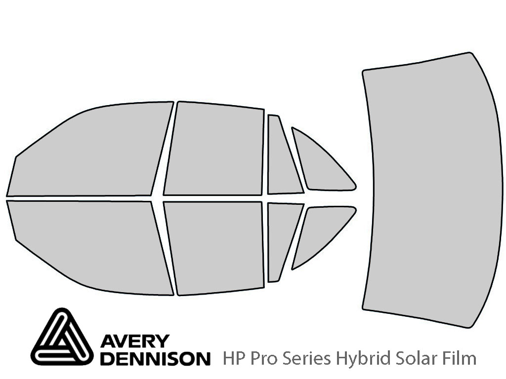 Avery Dennison Ford Crown Victoria 1992-1997 HP Pro Window Tint Kit