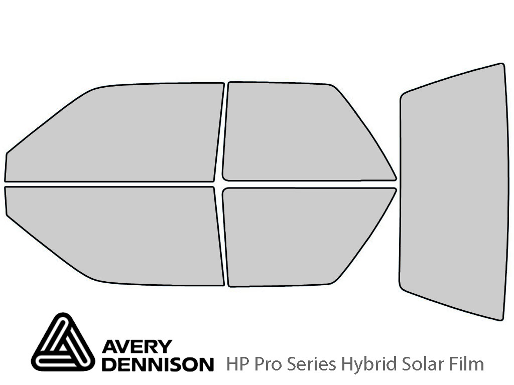 Ford Festiva 1990-1993 Avery Hybrid Window Tint
