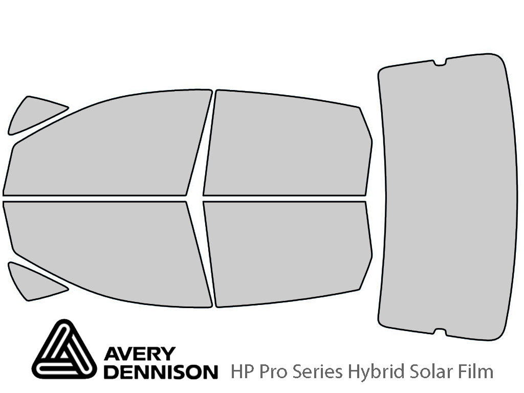 Ford Focus 2008-2011 Hatchback Avery Hybrid Window Tint