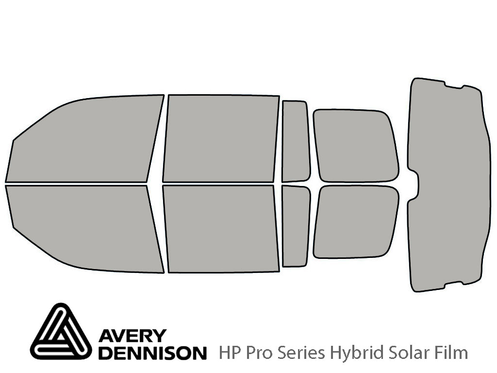 Honda Pilot 2009-2015 Avery Hybrid Window Tint