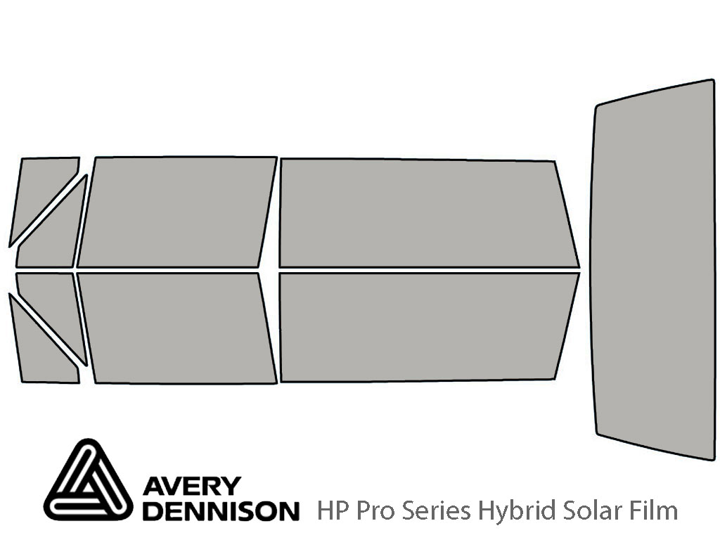 Avery Dennison Jeep Cherokee 1990-1996 (2 Door) HP Pro Window Tint Kit