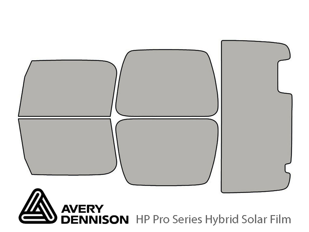 Jeep Wrangler 1997-2006 Avery Hybrid Window Tint