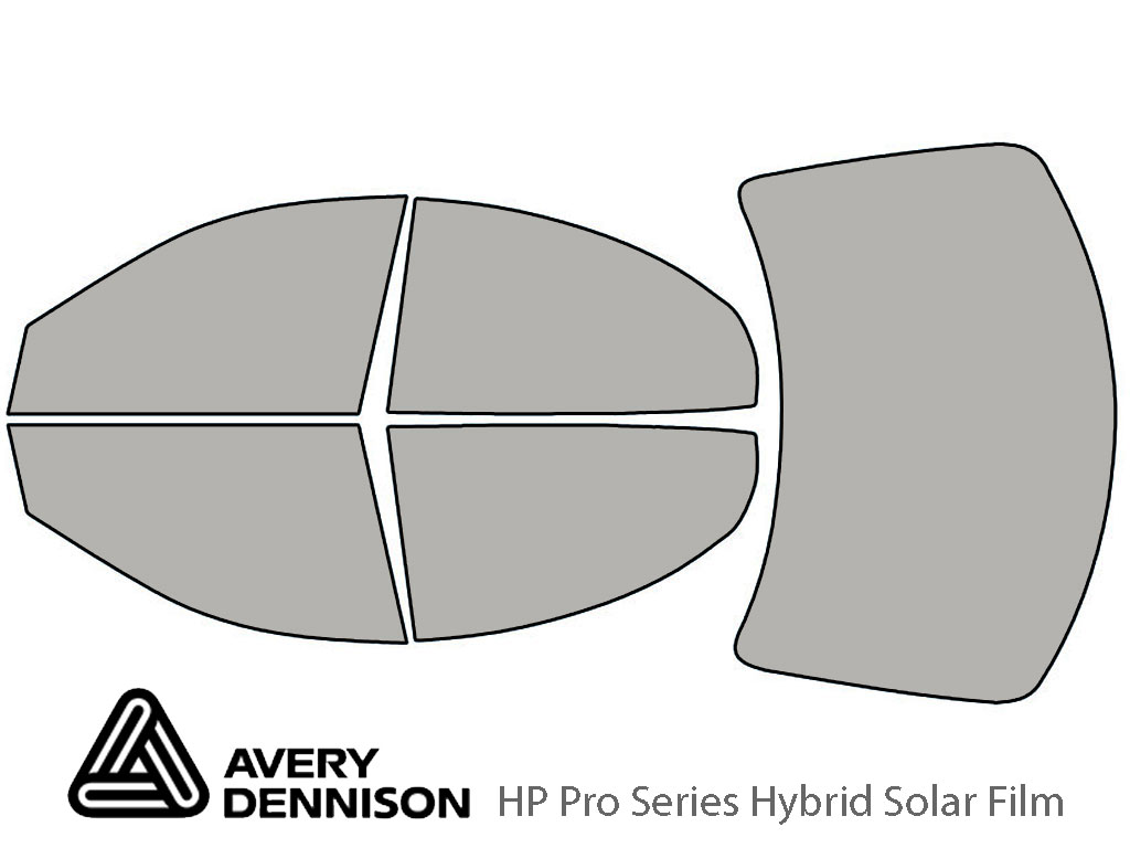 Mercury Sable 1996-2005 Sedan Avery Hybrid Window Tint