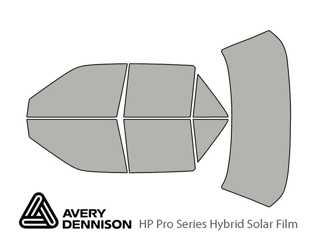 Mercury Tracer 1991-1996 Avery Hybrid Window Tint