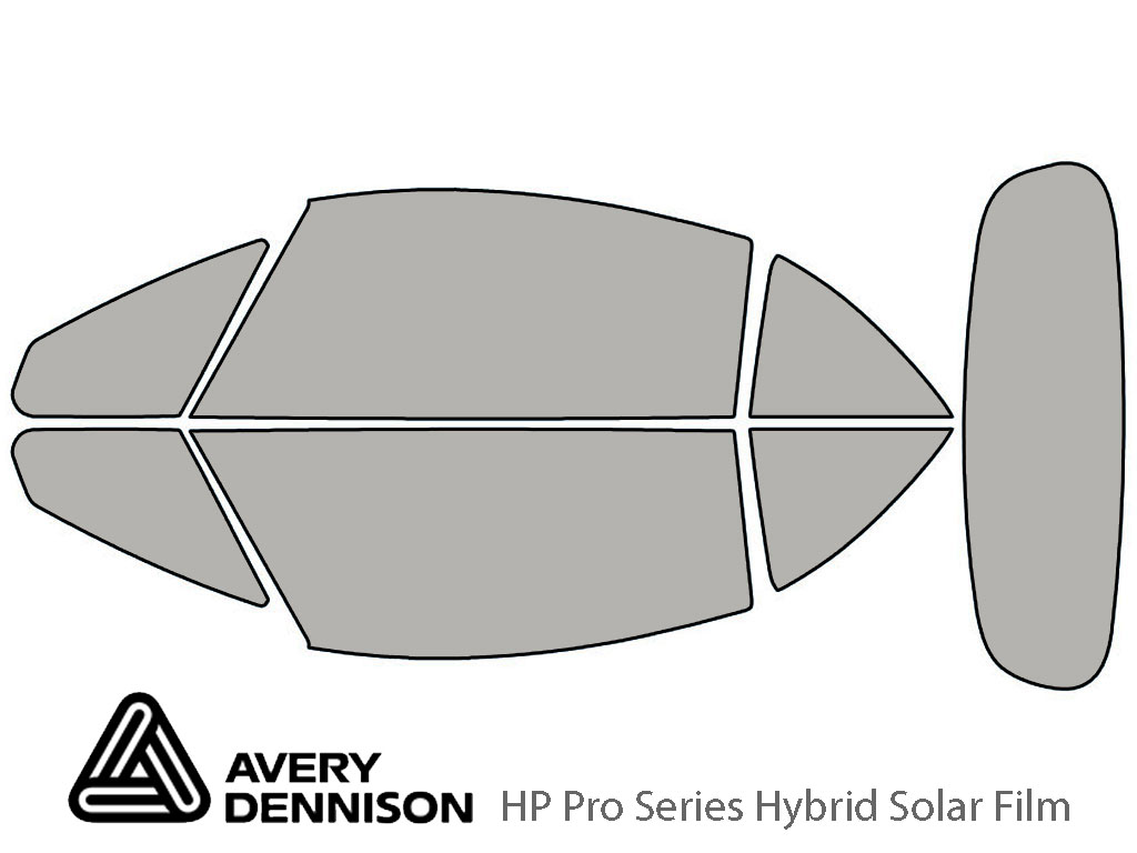 Avery Dennison Mitsubishi Eclipse 2007-2012 (Spyder) HP Pro Window Tint Kit