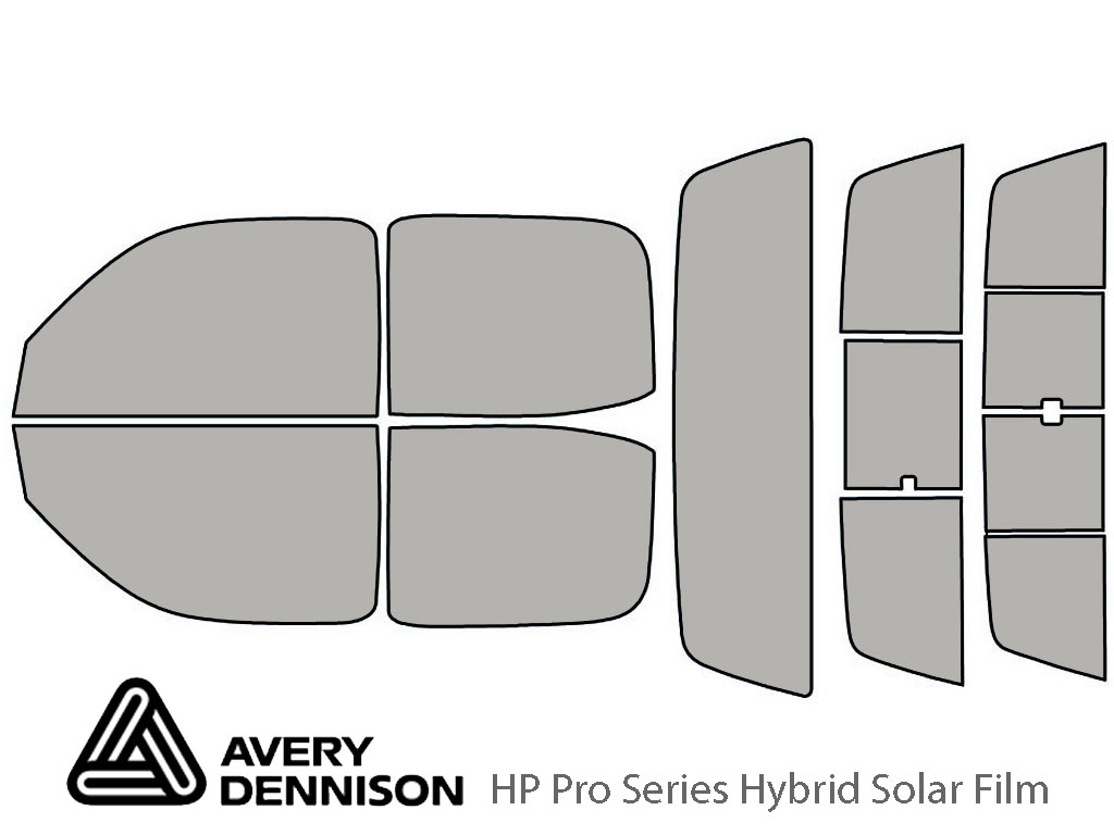 Avery Dennison Toyota Tacoma 2001-2004 (4 Door) HP Pro Window Tint Kit