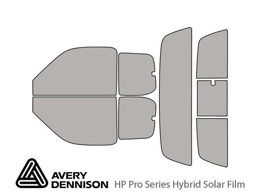 Toyota Tundra 2000-2006 2 Door Avery Hybrid Window Tint