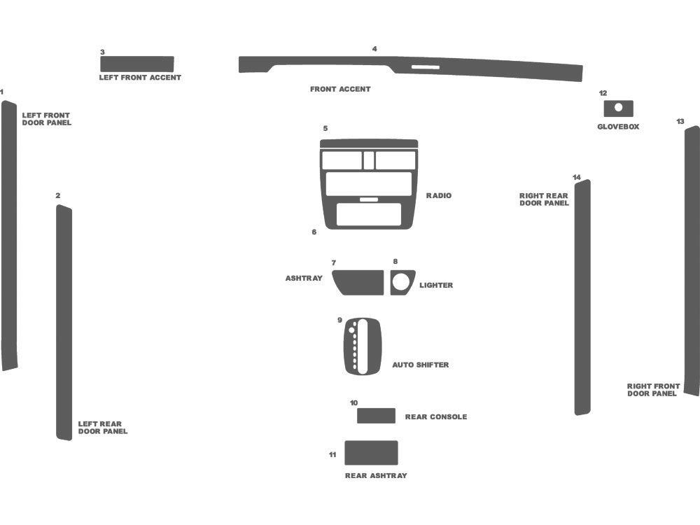 Audi A4 1996-1999 Dash Kit Schematic
