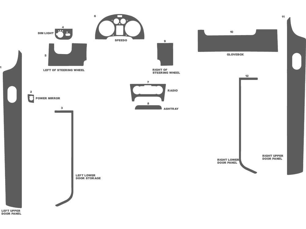 Audi TT 2000-2006 Dash Kit Schematic