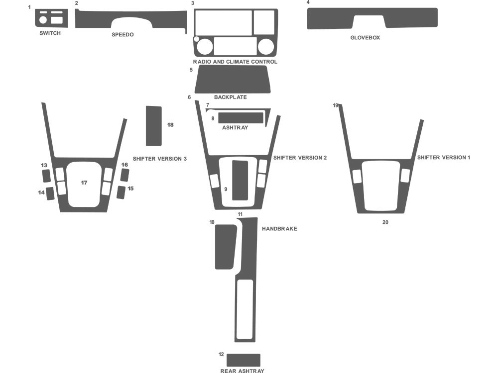 BMW 3-Series 1984-1991 Dash Kit Schematic