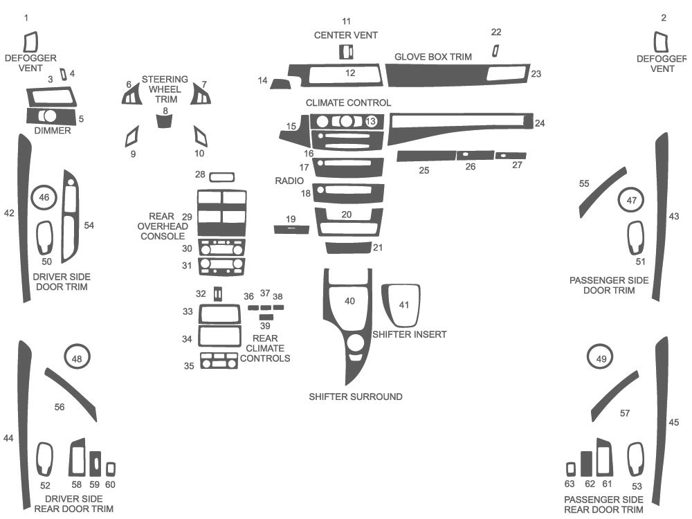 BMW 5-Series 2008-2010 Dash Kit Schematic