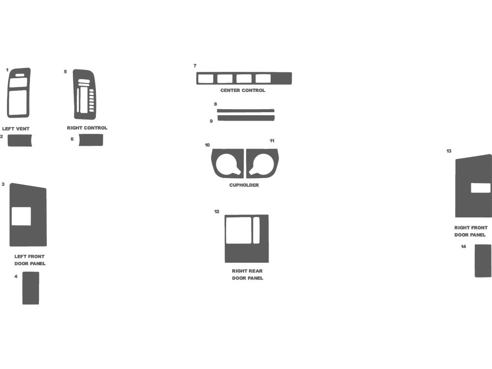 Chevrolet Astro Van 1990-1993 Dash Kit Schematic