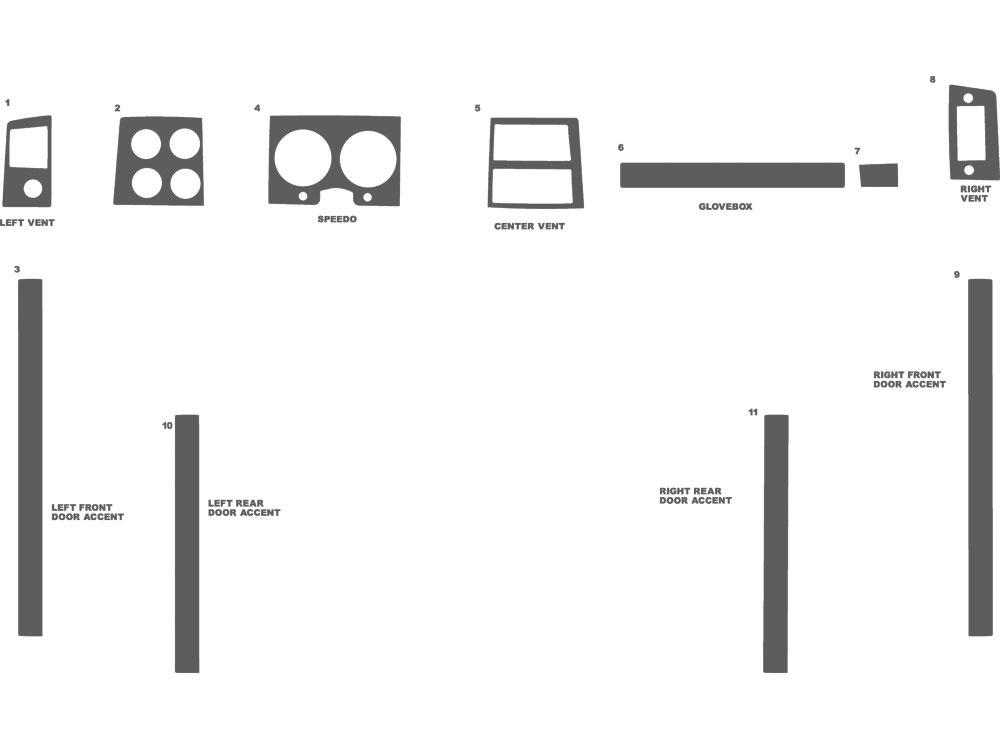 Chevrolet Pick Up Full Size 1973-1987 Dash Kit Schematic