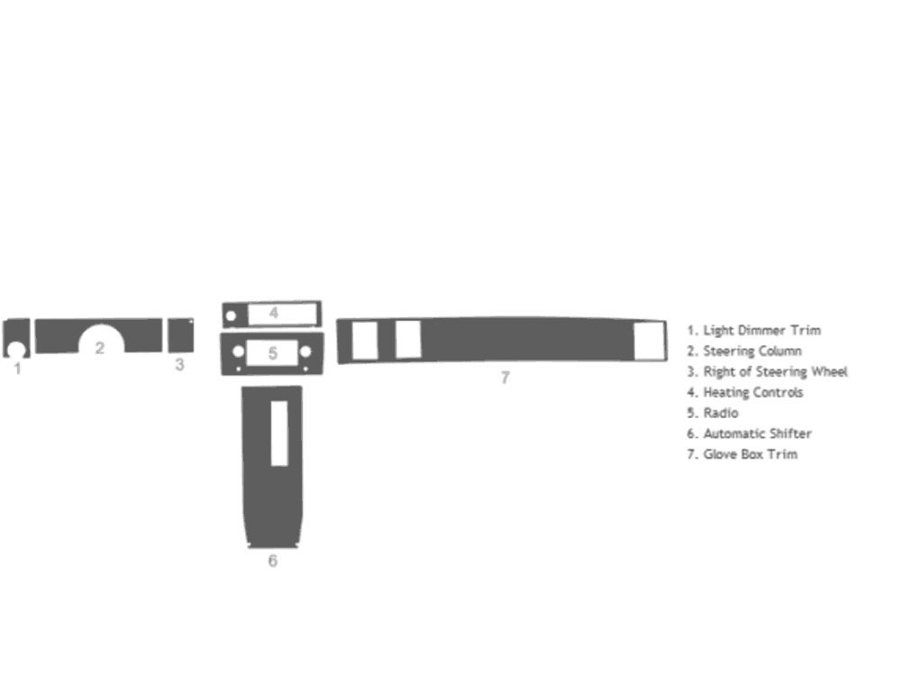 Chevrolet El Camino 1978-1987 Dash Kit Schematic