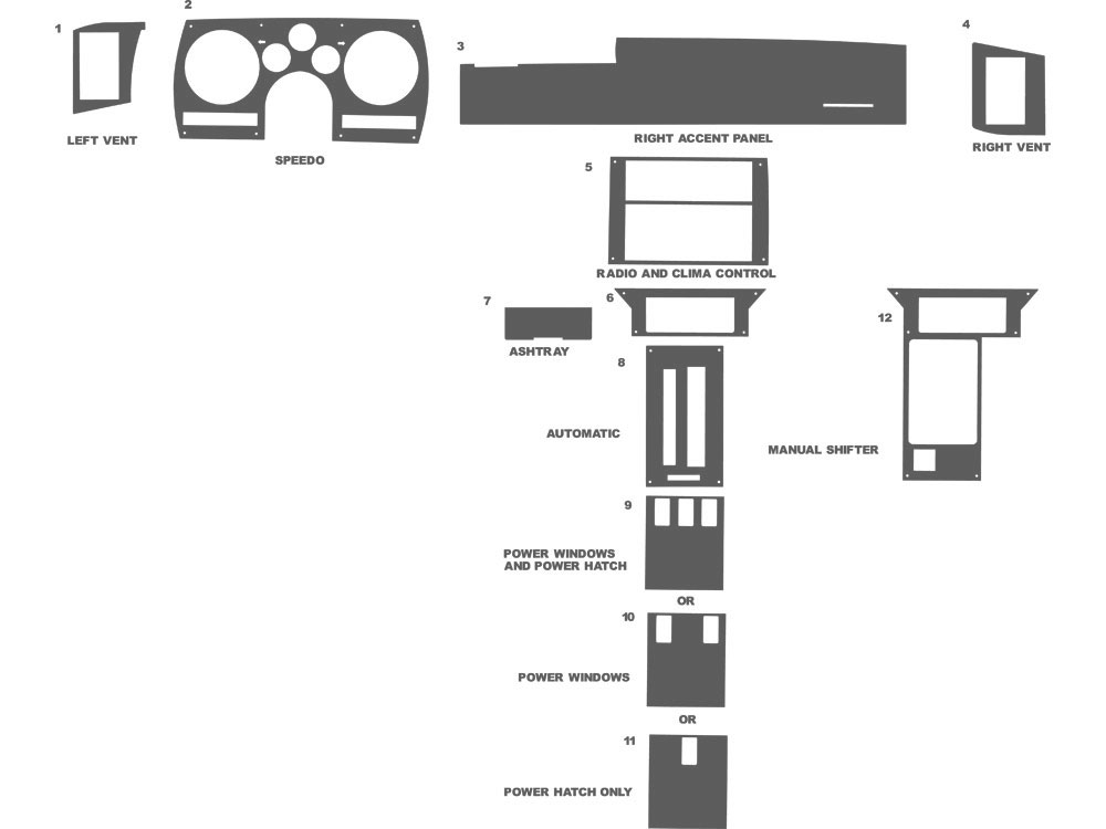 Chevrolet Camaro 1982-1989 Dash Kit Schematic