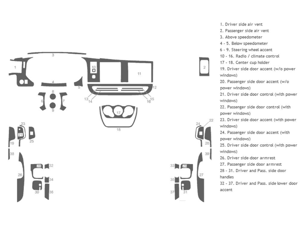 Chevrolet Express 2008-2017 Dash Kit Schematic
