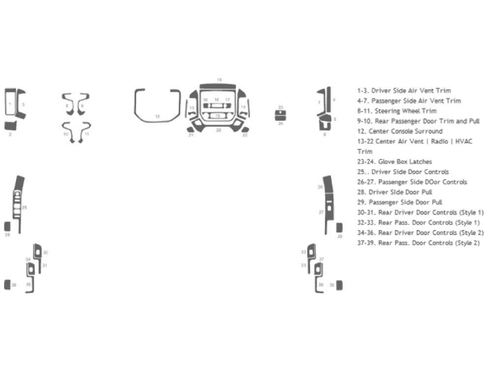 2014 Chevrolet Silverado Dash Kits | Custom 2014 Chevrolet Silverado ...
