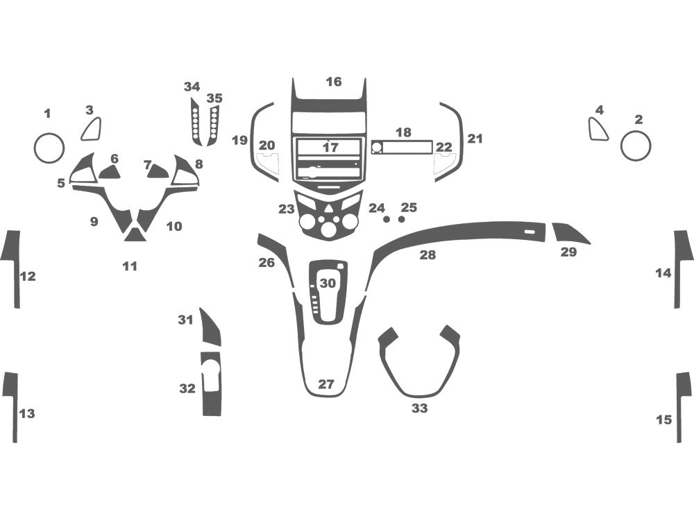 Chevrolet Sonic 2012-2016 Dash Kit Schematic