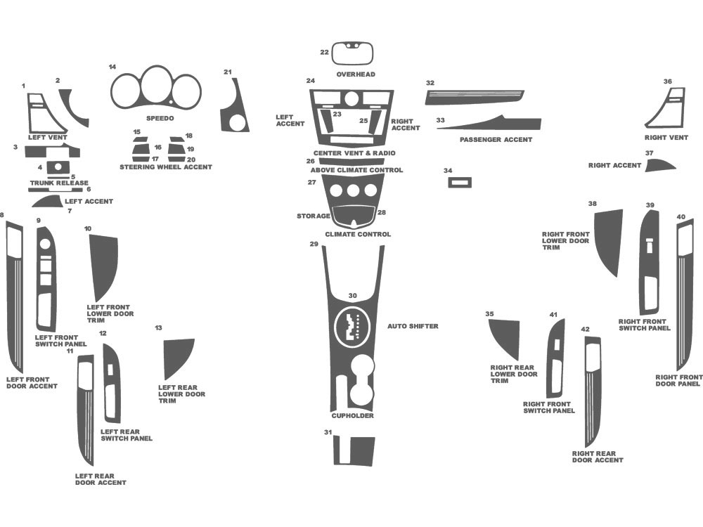 Chrysler Sebring 2007-2010 Dash Kit Schematic