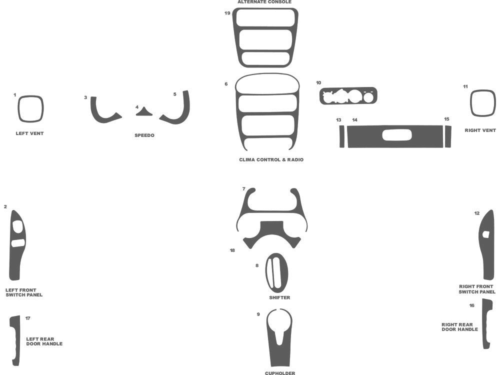 Dodge Neon 2000-2005 Dash Kit Schematic