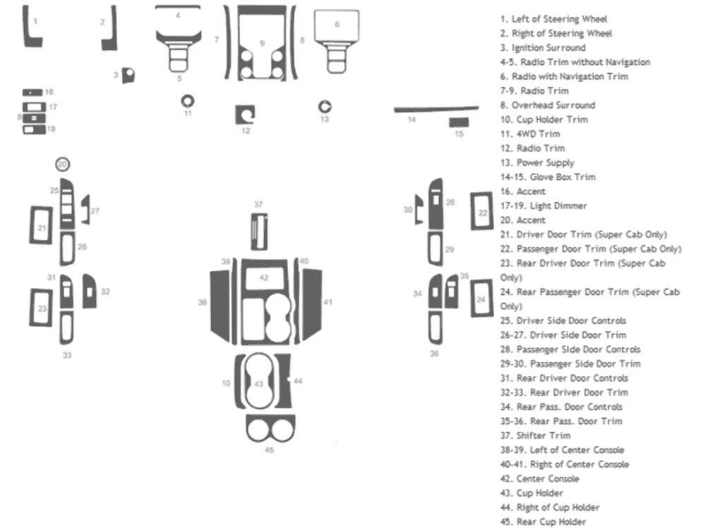 Benevento Dash Kits DK FRD F150 13 ford f 150 2013 2015 dash kits diy dash trim kit