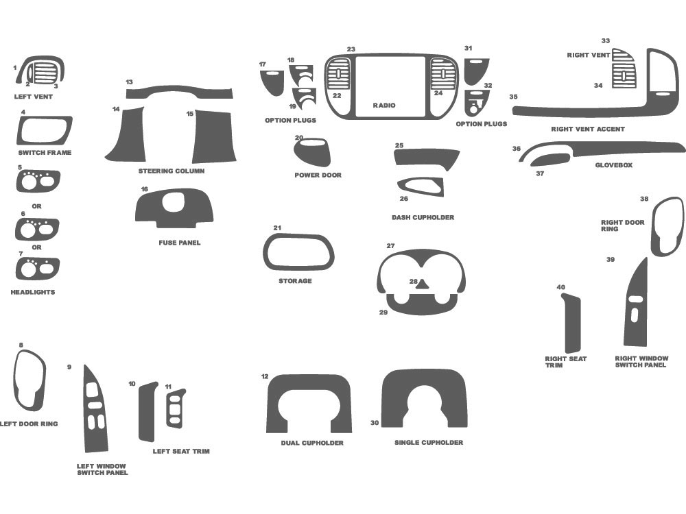 Ford F-150 1999-1999 Dash Kit Schematic