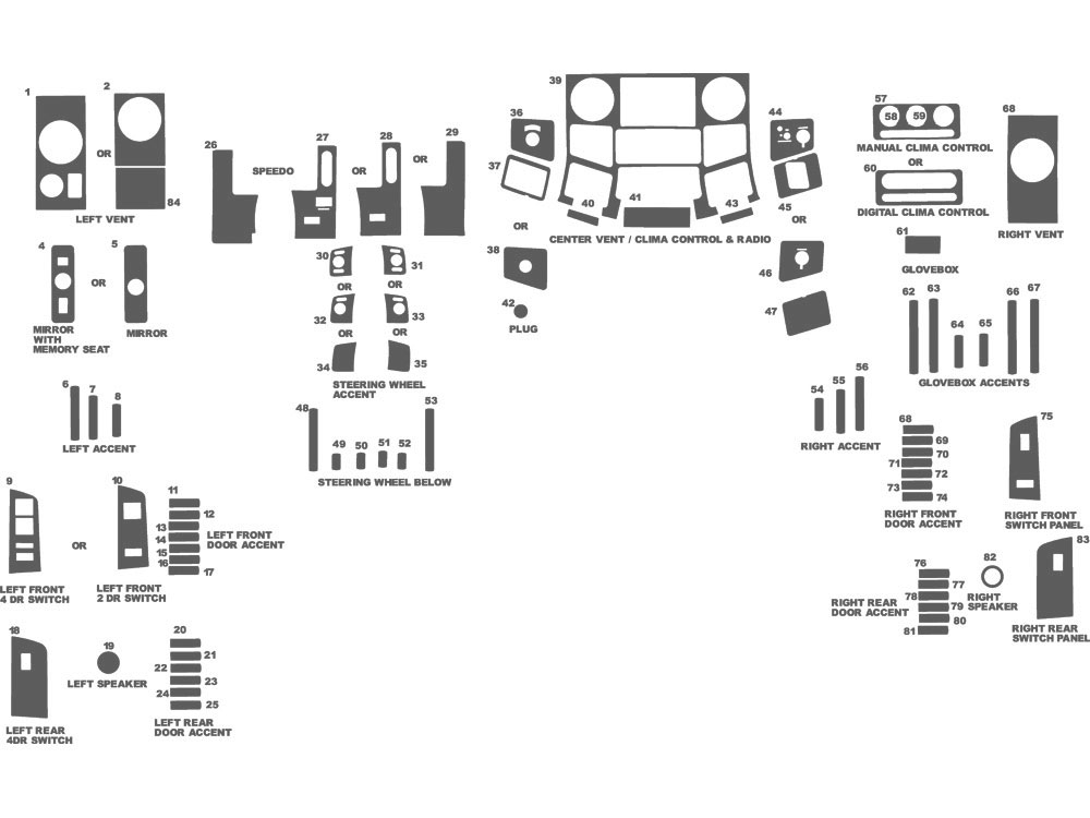 Ford F-250 2008-2010 Dash Kit Schematic