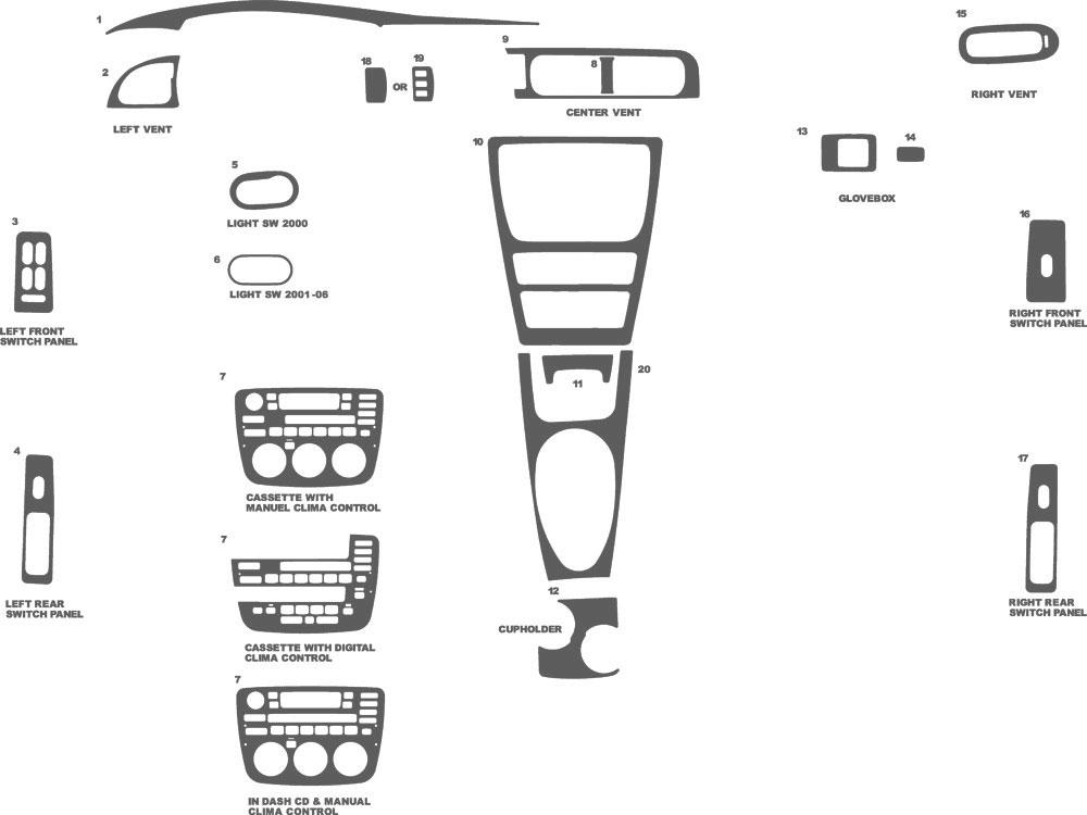 2003 ford taurus dash kits