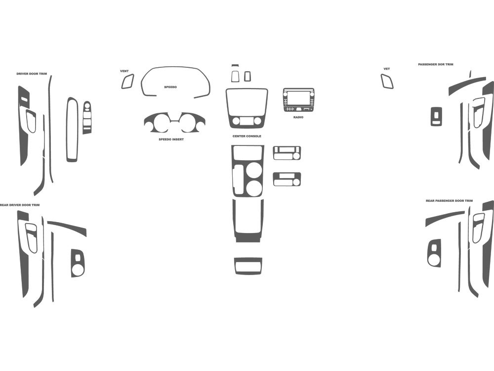 GMC Acadia 2013-2015 Dash Kit Schematic