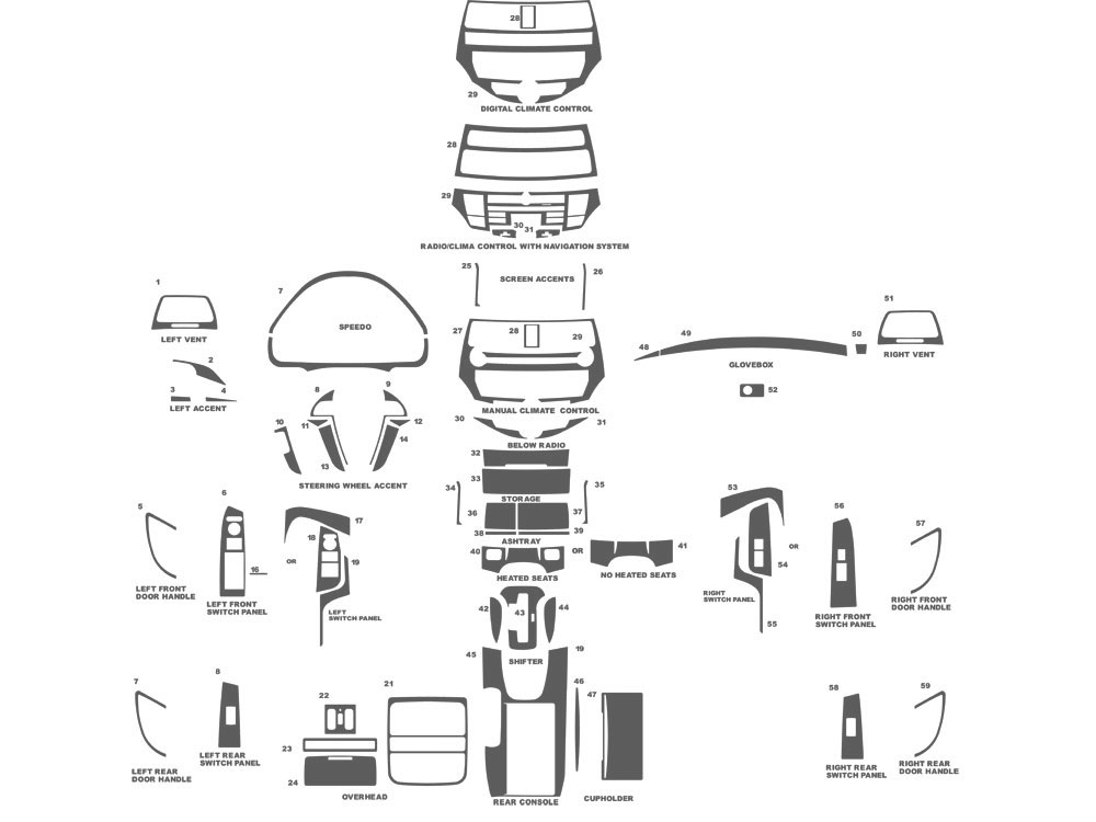 Honda Accord 2008-2012 Dash Kit Schematic
