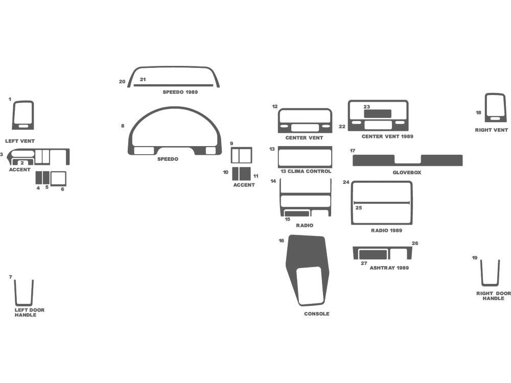 Honda Civic 1989-1991 Dash Kit Schematic