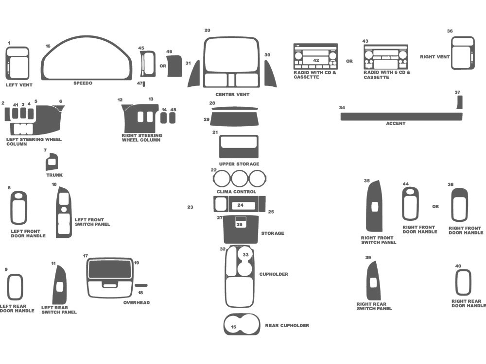 Honda CR-V 2002-2004 Dash Kit Schematic